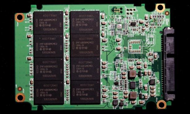 AData SE720 External SSD PCB Back