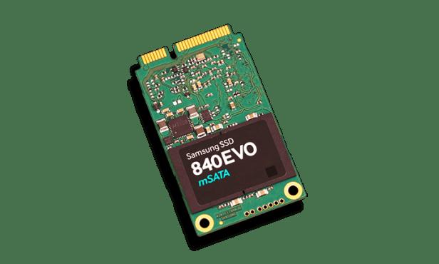 Samsung 840 EVO mSATA 1TB SSD Angled
