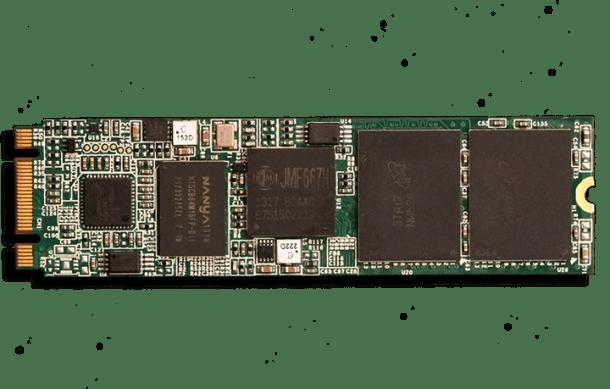 Super Talent DX 1 PCIe M.2 NGFF SSD Front PCB