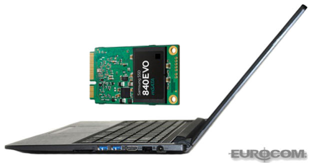 Eurocom Armadillo with 840EVO mSATA SSD