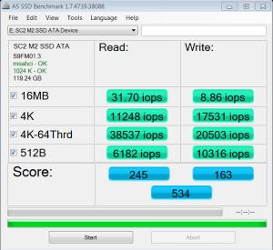 MyDigitalSSD SuperCache 2 M.2 128GB SSD AS SSD IOPS