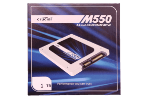 Crucial M550 1TB SSD Exterior Front