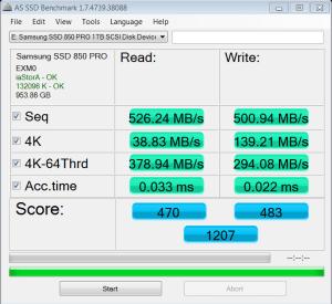 Samsung 850 Pro AS SSD