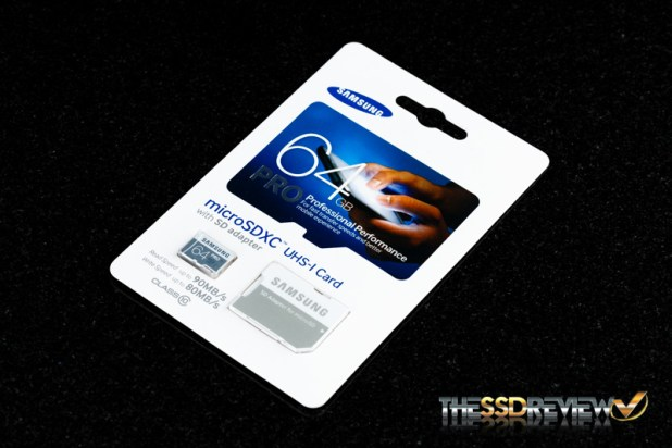 Samsung Pro microSDXC 64GB Package Angle