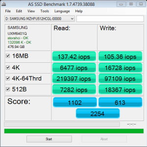 ASRock X99 Extreme11 XP941 AS SSD IOPS