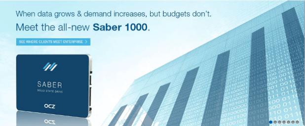 OCZ Saber 1000 banner