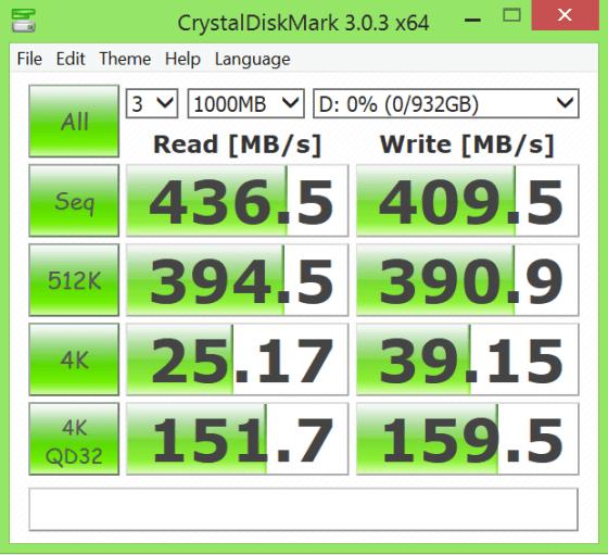 Samsung Portable SSD T1 Crystal DiskMark NTFS
