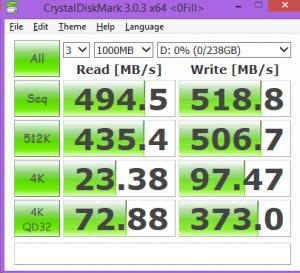 ADATA SP900NS38 256GB CDM 0-FILL
