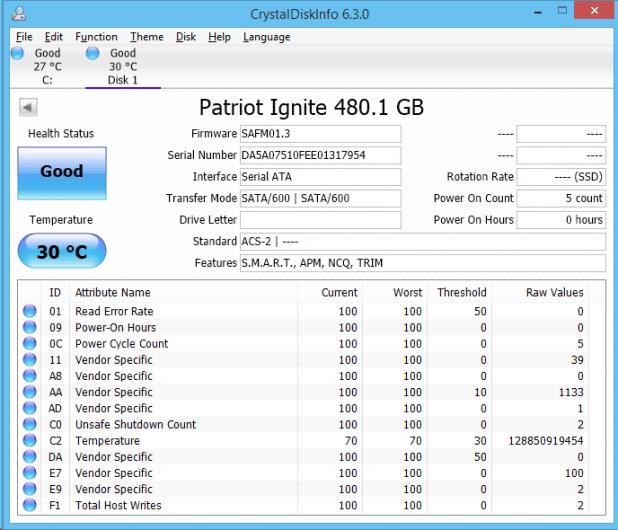 Patriot Ignite 480GB CDI