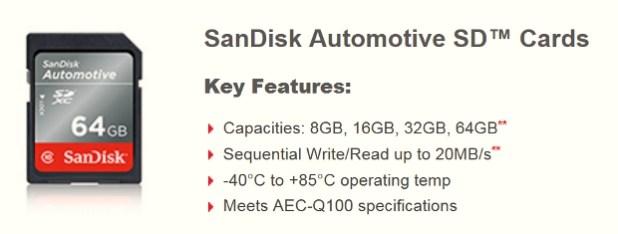 SanDisk automotive SD card
