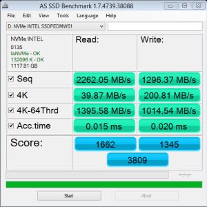 Intel 750 1.2TB NVMe AS SSD