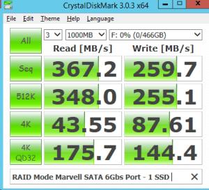 Marvell RAID Mode 500GB Samsung 850 EVO