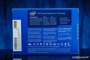 Intel 750 400GB Packaging Back
