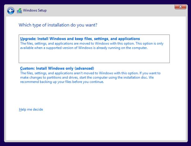 Custom Advanced Install