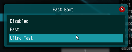 Fast Boot Options