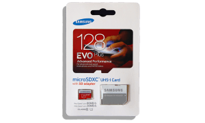 Samsung EVO Plus 128GB mSDXC Card Package Front
