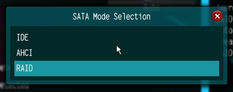 UEFI SATA mode