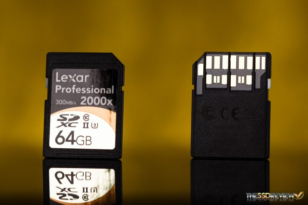 Lexar Professional 2000x SDXC UHS-II 64GB Front and Back