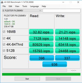 AS SSD 2 - Plextor M6V
