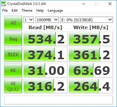 Crystal Disk Mark - Plextor M6V