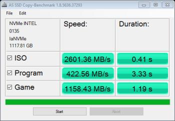 Intel 750 NVMe RAID X3 AS SSD Copy Bench