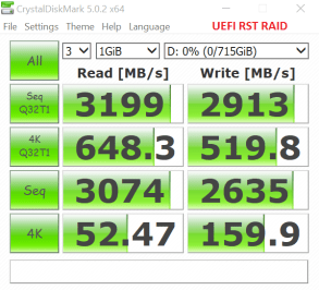 Samsung NVMe RAIDx3 BIOS RST CDM