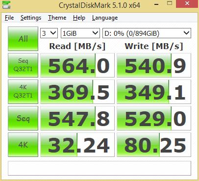 MyDigitalSSD BP5e 960GB CDM