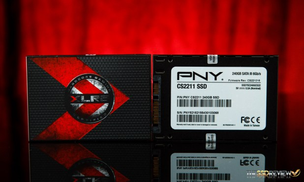 PNY XLR8 CS2211 SSD Front and Back