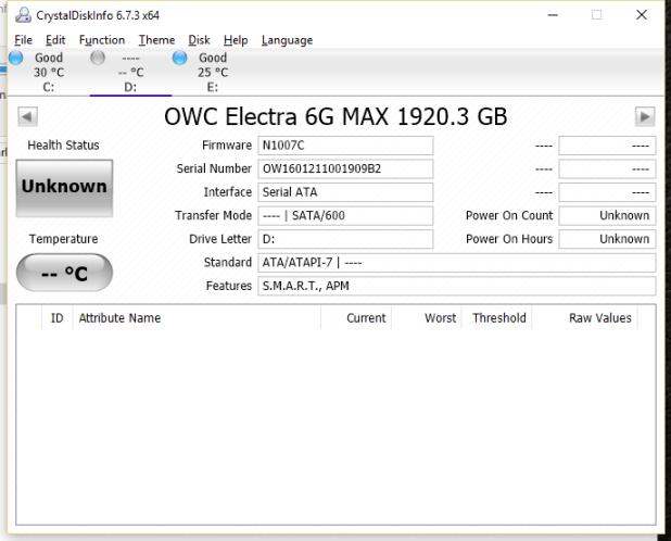 OWC Mercury Electra MAX 6G 2TB SSD CDI