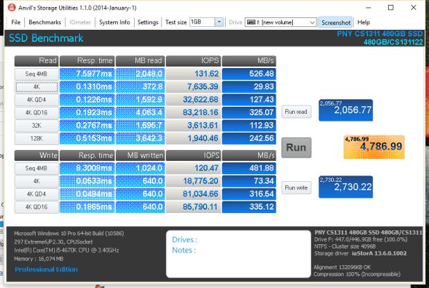 PNY CS1311 SSD 480GB Anvil