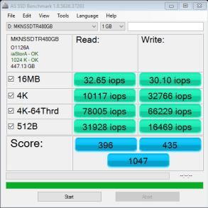 Mushkin Triactor 480GB as ssd iops