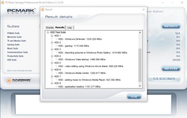 OCZ RD400 256GB PCMARK Vantage