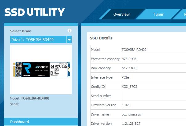 OCZ RD400 Config ID - XG3