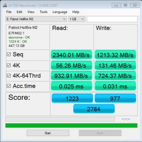 480GB Patriot Hellfire AS SSD