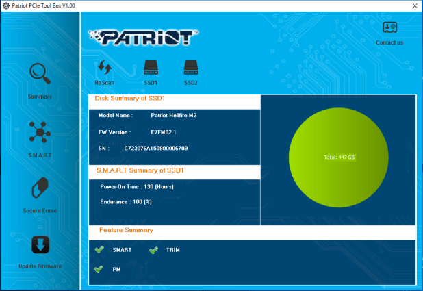 Patriot SSD Toolbox