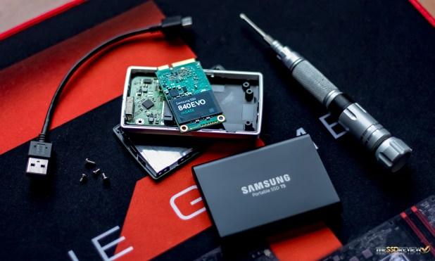Samsung Portabls SSD T5 with former 1TB 840 EVO
