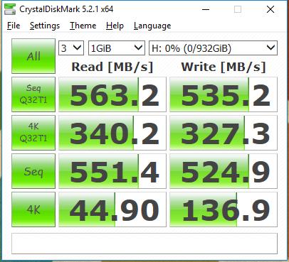 1TB WD Blue 3D SSD CDM
