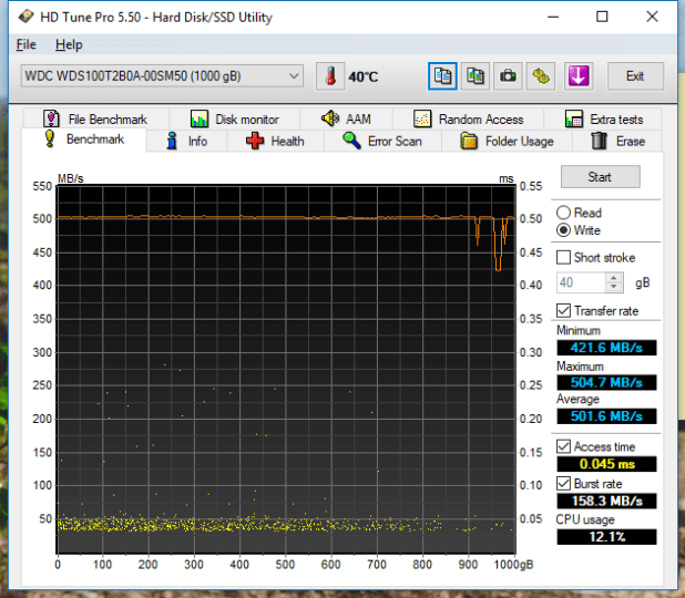 1TB WD Blue 3D SSD HDTune