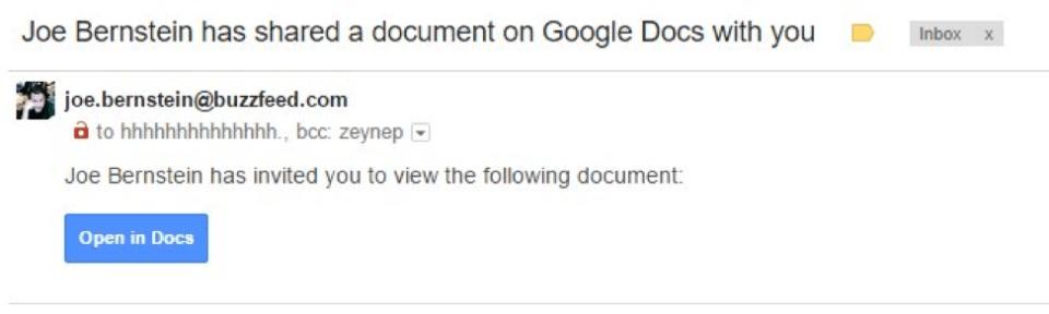 Google Docs OAuth Phishing