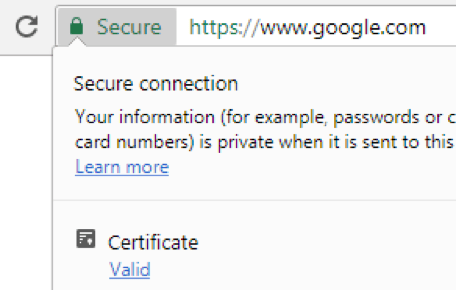 Google Chrome 60 Certificate Viewer