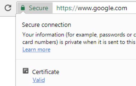 Google Chrome 60 Certificate Viewer