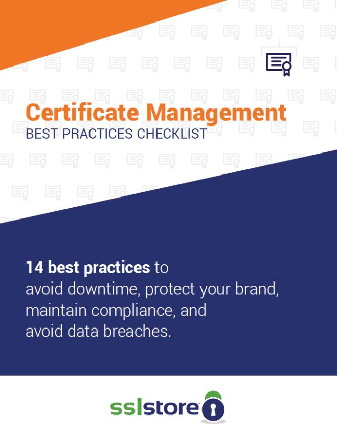 Certificate Management Checklist