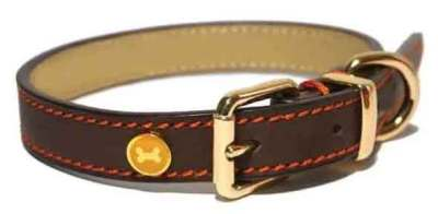 Rosewood leather collar
