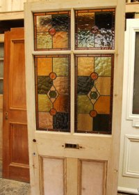 Victorian Antique Stained Glass Front Door - Stained Glass ...