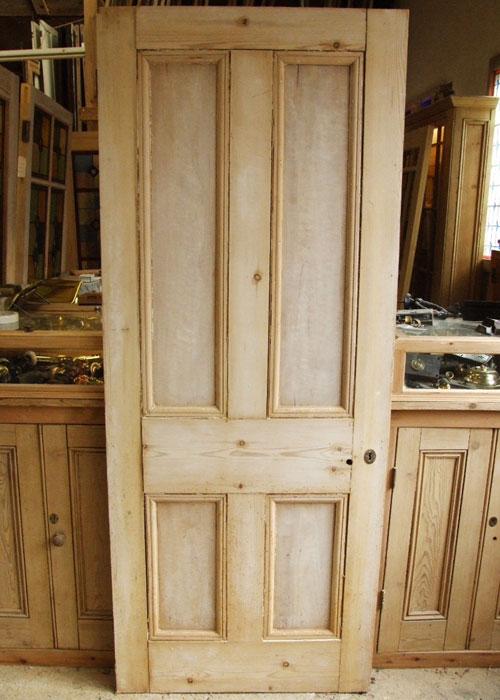 Antique Pine Victorian Internal Door Stained Glass Doors