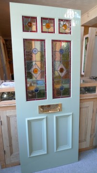 A Victorian Style Stained Glass Front Door incorporating 3 ...