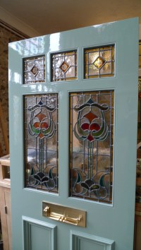Art Nouveau Stained Glass Door Front Door - Stained Glass ...