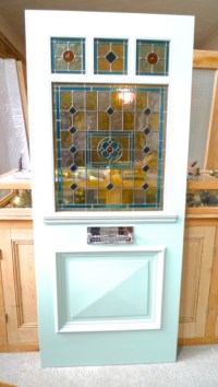 Edwardian Style Three Over One Panel Stained Glass Front