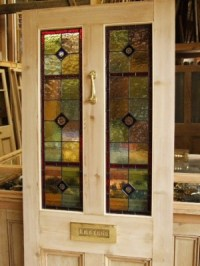 Stained Glass Reclaimed Victorian Front Door - Stained ...