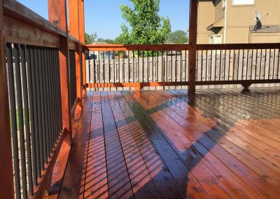 Kansas City Deck Staning: Sequoia on cedar